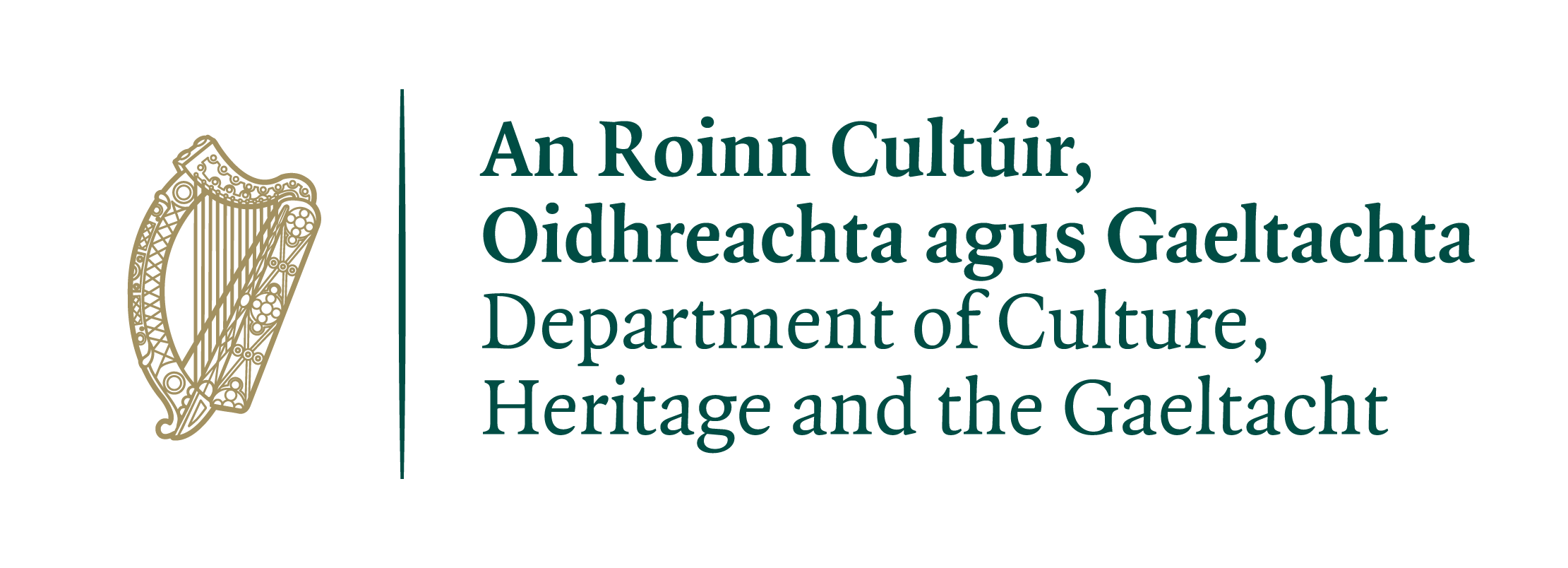Logo of The Department of Culture Heritage and the Gaeltacht