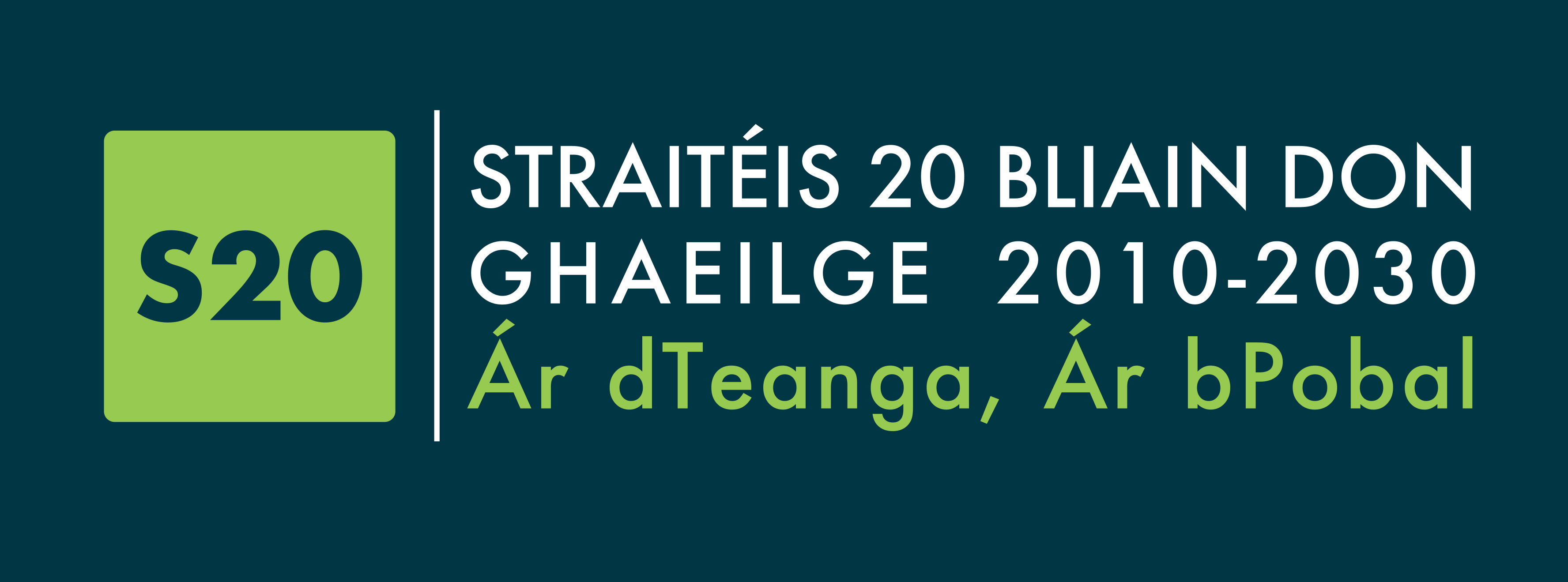 Logo of the 20 years strategy of Irish
